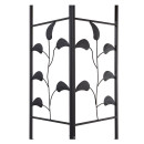 Garten Blätter Pavillon 3x3m Terra / Rotorange RAL 2001 Partyzelt Metall Carport