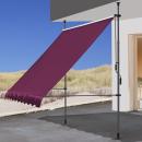 2 Piece Clamp Awning Balcony Sunshade Telescopic Canopy...