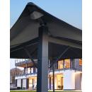 Metall Garten Pavillon Nizza 3x3m Antik Partyzelt Grau...