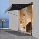 Clamp Awning Balcony Sunshade Telescopic Canopy 300x130cm No Drilling Retractable & Adjustable Color: Grey