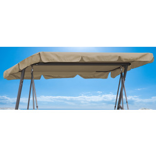 Replacement Roof Garden Swing Beige 145x210cm UV 50 3 Seater Hollywood Swing Cover