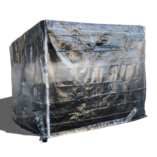 Schutzhülle für Hollywoodschaukel Triumph 3 Sitzer 215x123x180cm PVC transparent