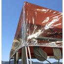Pavillon Schutzhaube 2x3m Wasserdicht Transparent