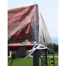 Gazebo Protective Cover 2 x 3 m Waterproof Transparent Double Roof Weather Protection