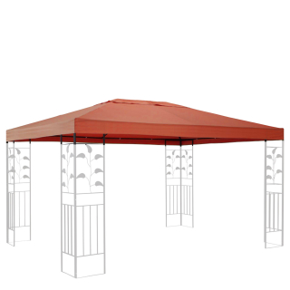 Replacement Roof for Leaves Gazebo 3x4m Orange-Red