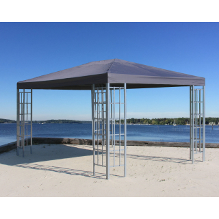 Metall Pavillon 3x4m Silver Garten Partyzelt Anthrazit RAL 7012