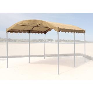 Ersatzdach zu Bogenpergola 3x4m Sand  Pavillon Pergola