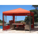 2 Side Panels with PE Window 300x195cm Orange-Red for...