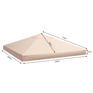 Replacement Roof for Gazebo 3x3m Beige