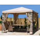 4 Side Panels with Mosquito Net 300x195cm Beige for Gazebo 3x3m