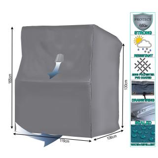 Beach chair cover L 119 x 106 x 165 cm Beach chair cover grey