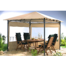 2 Side Panels with PE Window 250x190cm Beige for Gazebo 3x3m