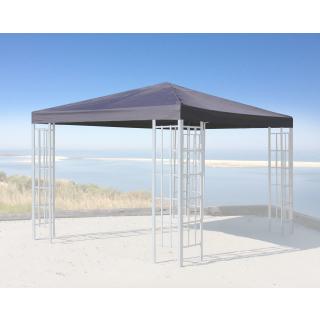 Ersatzdach für Rank Pavillon 3x3m Anthrazit RAL 7012 Ersatzbezug Pavillondach