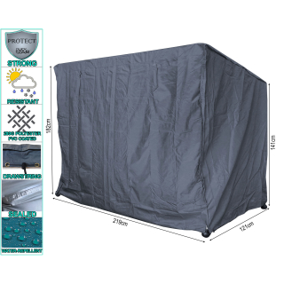 Protective Cover for Garden Swing 3 seater 219x121x182cm Gray