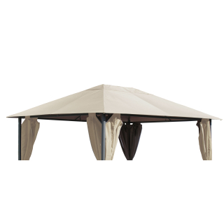 Replacement roof for garden pavilion 3x4m Beige antique pavilion roof replacement cover