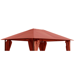 Replacement Roof for Garden Gazebo 3x4m Orange-Red