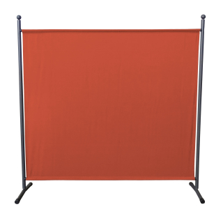 Paravent 180 x 178 cm Fabric Room Devider Garden Partition Wall Balcony Privacy Screen Orange-Red