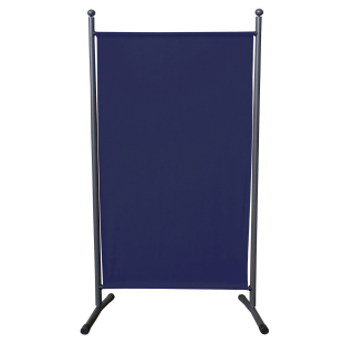 Paravent 180 x 78 cm Fabric Room Devider Garden Partition Wall Balcony Privacy Screen Blue