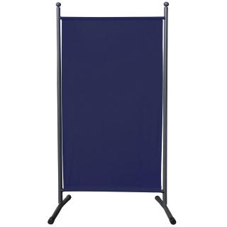 Paravent 180 x 78 cm Stoff Raumteiler Klein Stellwand Trennwand Balkon Sichtschutz Blau