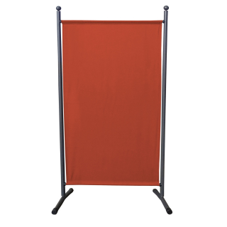 Paravent 180 x 78 cm Fabric Room Devider Garden Partition Wall Balcony Privacy Screen Orange-Red