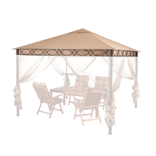 Replacement Roof for Garden Gazebo 3x3m Beige