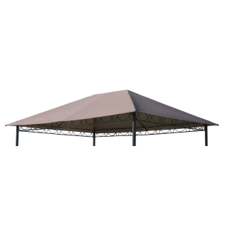 Replacement Roof for Garden Gazebo 3x4m Brown-Gray