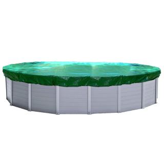 Abdeckplane Pool Oval Planenmaß 880x480 cm für Pool 800x400 cm Winterabdeckplane Poolabdeckung 180g/m²