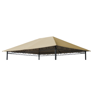 Replacement Roof for Garden Gazebo 3x4m Beige
