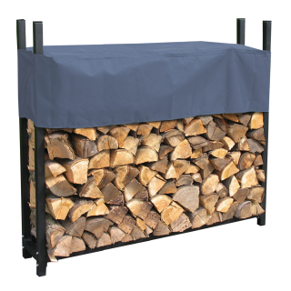 Metal Firewood Rack Anthracite 120 x 25 x 120 cm Garden Firewood Shelter 0,5 m³ Stacking Aid Outdoor with Weather Protection Gray