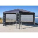 Rank Pavillon 3x4m Metall Garten Partyzelt Anthrazit RAL...