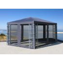 Rank Pavillon 3x4m Metall Garten Partyzelt Anthrazit RAL 7012
