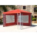 Rank Pavillon Set 3x3m Metall Garten Partyzelt Terra /...