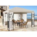 Garten Blätter Pavillon 3x3m Sand Partyzelt Metall...