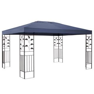 Garten Blätter Pavillon 3x4m Grau Partyzelt Metall Carport
