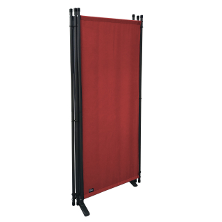 2 Piece Paravent 220 x 165 cm Fabric Room Devider Garden 4-Part Patrition Wall Foldable Balcony Privacy Screen Orange-Red